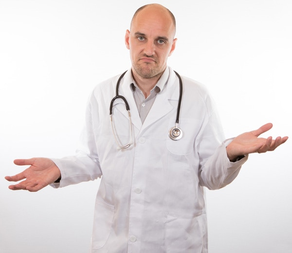 image of doctor shrugging his shoulders